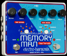 Electro Harmonix MEMORY MAN With TAP TEMPO Guitar Pedal - Blue Model RARE